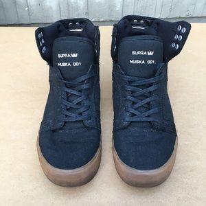 Supra Muska 001 Black Midtop Skateboard Sneakers